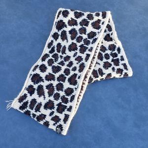 Betsey Johnson Ivory Leopard Infinity Scarf